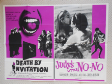 Death by Invitation/Judy's Little No No, Original Combo UK Quad Poster, '71